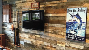 Sustainable Lumber Co.'s Prefabricated Architectural Wall Panels are made from reclaimed pallet boards, barn wood and recycled flooring.