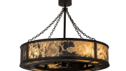 Meyda Custom Lighting introduces the Smythe Quarrystone Optyka-Lite Chandelier.