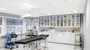 ROCKFON Medical stone wool ceiling panels are easy to clean and disinfect, while meeting health-care facilities' attractive design goals, sustainability objectives and stringent performance requirements.