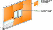 VaproShield's Two Component VaproAirBarrier System allows for complete air barrier continuity with only two components.
