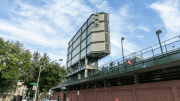 Metl-Span's CF30 architectural panels in two colors with a smooth finish were installed on the sides, bottom and back of the video boards.