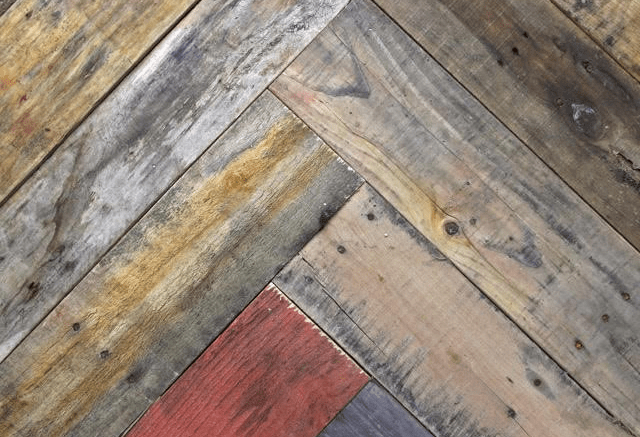 Viridian Reclaimed Wood introduces Zigzag, a line of affordable reclaimed wood paneling derived from shipping crates.