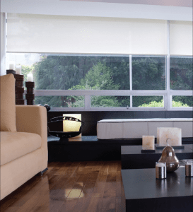 Phifer Incorporated's SheerWeave interior window covering with sun control fabrics feature blackout and light-filtering options.