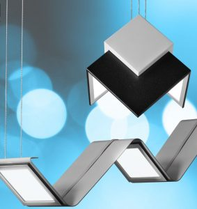 Series Of Pendant Lights Offer Individual Control Of OLED Panel - Individual pendant lights