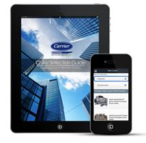Mobile app offers consulting and facilities engineers a way to select a Carrier commercial chiller.