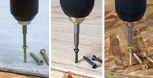 Simpson Strong-Tie set of fasteners improves installation of cement backerboard, subfloor and underlayment materials.
