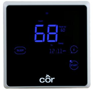 Apple HomeKit technology allows users to control their Côr thermostat from anywhere using the iOS 10 Home app or voice controlled Siri on their iPhone, iPad or Apple Watch.
