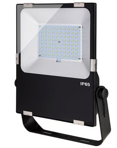 Depending on wattage and color temperature options, the LED flood light fixtures emit from 3,500 to 25,000 lumens of illumination in a 120-degree beam pattern.