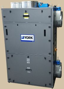 The YORK EcoAdvance module captures and removes molecular contaminants from indoor air while managing the flow of outside air into a building.