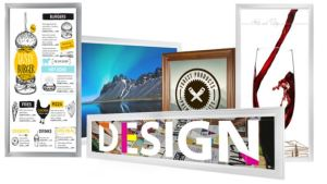 Printed LED Light Boxes feature LUXART images that are printed directly on light box diffusers.