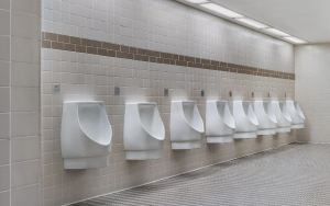 Sloan hybrid urinals  (hYB-1000 models) help save thousands  of gallons of fresh water each year.