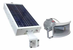 The solar powered siren provides operators with an signal system that can be heard over the day to day operation of industrial machinery.