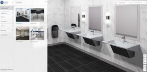 The Virtual Design Tool assists architects and designers in planning and visualizing their restroom designs incorporating Bradley hand washing fixtures, partitions and accessory products.