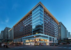 Baker Center showcases a building entry featuring Tubelite curtainwall and storefront systems.