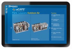 The eCAPS Engineer Application Suite is an online product selection program for dedicated outdoor air products.