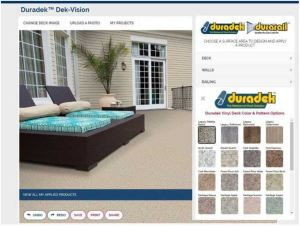 Dek-Vision online design tool assists building owners, builders and remodelers with creating deck makeover plans.