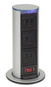 Gain access to three power outlets by installing into any type of furniture.