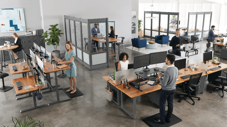 active office sit stand desks varidesk