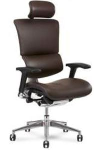 The X4 Leather Executive Chair achieves comfort and back pain relief without forgoing style.