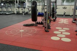 Everlast Fitness Flooring introduces a refreshed palette of colors and and team-themed patterns.