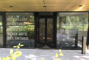 A renovation project at Art Gallery of Ontario features a new South entrance with a Boon Edam manually revolving door.