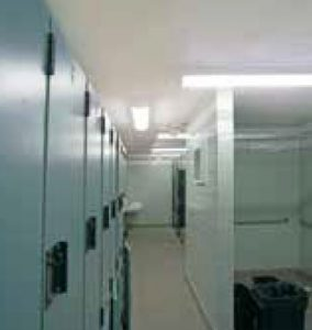 In addition to the bacteria-killing benefits of the lights, the 4-foot-long linear LED luminaires have an IP64 rating.