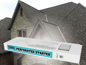 The Perforated Starter course shingle ensures that contractors no longer lose time field-cutting shingles to the appropriate size while reducing related waste.