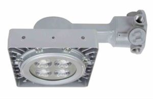 The explosion proof high bay LED fixture provides users with 4,333 lumens of illumination.