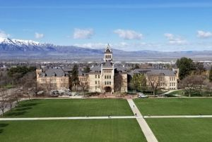 Kendrick Brothers Roofing re-roofs the historic Old Main structure at Utah State University.