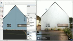 Lumion LiveSync lets architects and designers set up a real-time visualization of their SketchUp or Revit model in the Lumion environment.