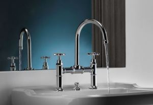 The AXOR Montreux collection draws inspiration from design features popular in the early 20th century.