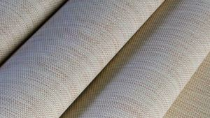 The SunTex 95 exterior sun control fabric family is made from from vinyl-coated polyester.