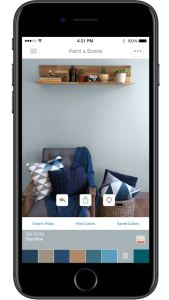 The ColorSnap Visualizer app allows customers to use augmented reality to make color selections.