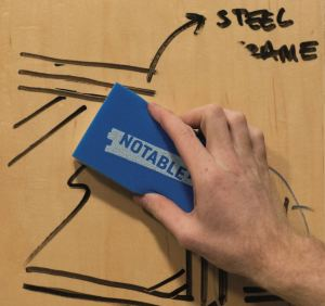 Benjamin Moore introduces a coating that can transform a surface into a dry erase board.