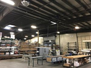 The facilities team replaced 276 fluorescent fixtures with 166 LED fixtures.