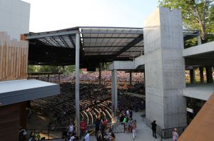 The En-Fold system allows the entertainment venue to host open air events on nice days, but it also provides patrons cover from the elements when needed.