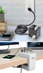 Tripp Lite provides AC outlets and USB charging ports for multiple users in meeting rooms and shared workspaces.