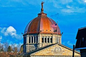 The Bradford County Courthouse receives a a complete roof restoration.