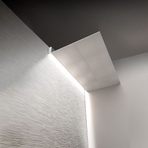The WGD9 Wall Grazer family of lighting highlights wall textures with a narrow beam of light.