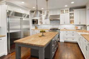 VT CenterPointe butcher block countertops are available in two wood offerings.