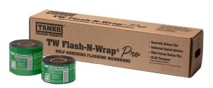 TW Flash-N-Wrap Pro protects exposed entryways and windows from the threat of moisture and air penetration.