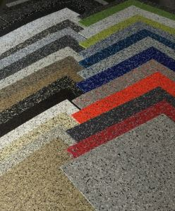 ECOsurfaces includes 32 colors, and it provides slip resistance and acoustic properties.
