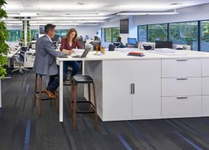 The office creates a sense of community. People have places to spend time together beyond meetings or daily desk activities.