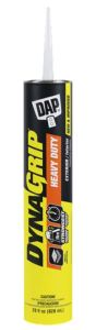 DynaGrip Heavy Duty is a construction adhesive that can hold vertical projects in place without the need for bracing or clamping.