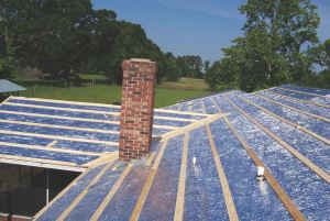 Reflective Insulation 2200 Series underlayment can reduce transfer of radiant heat through roofing.