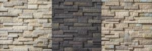 The panelized version of the Drystack Ledgestone profile includes three colors options.