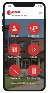 The mobile app enables users to find OMG products and technical information wherever they are.