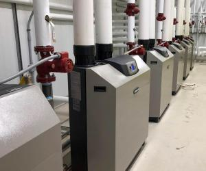 The Weil-McLain boiler systems provides a consistent source of hot water at Pine Valley Ranch.