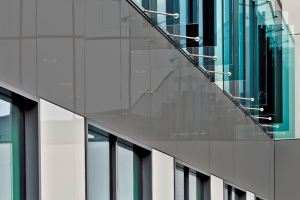 Lacobel T Warm Grey Spandrel is an addition to AGC's portfolio of back-painted decorative glass.