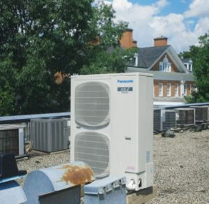 The technology of the Variable Refrigerant Flow HVAC system is more energy efficient and cost effective than the old electrical resistance heaters at Langdon Hall.